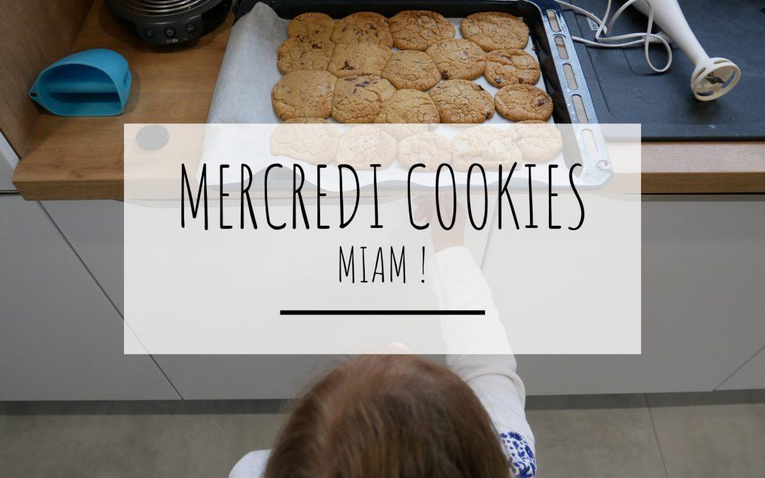recette cookies, à la sortie du four