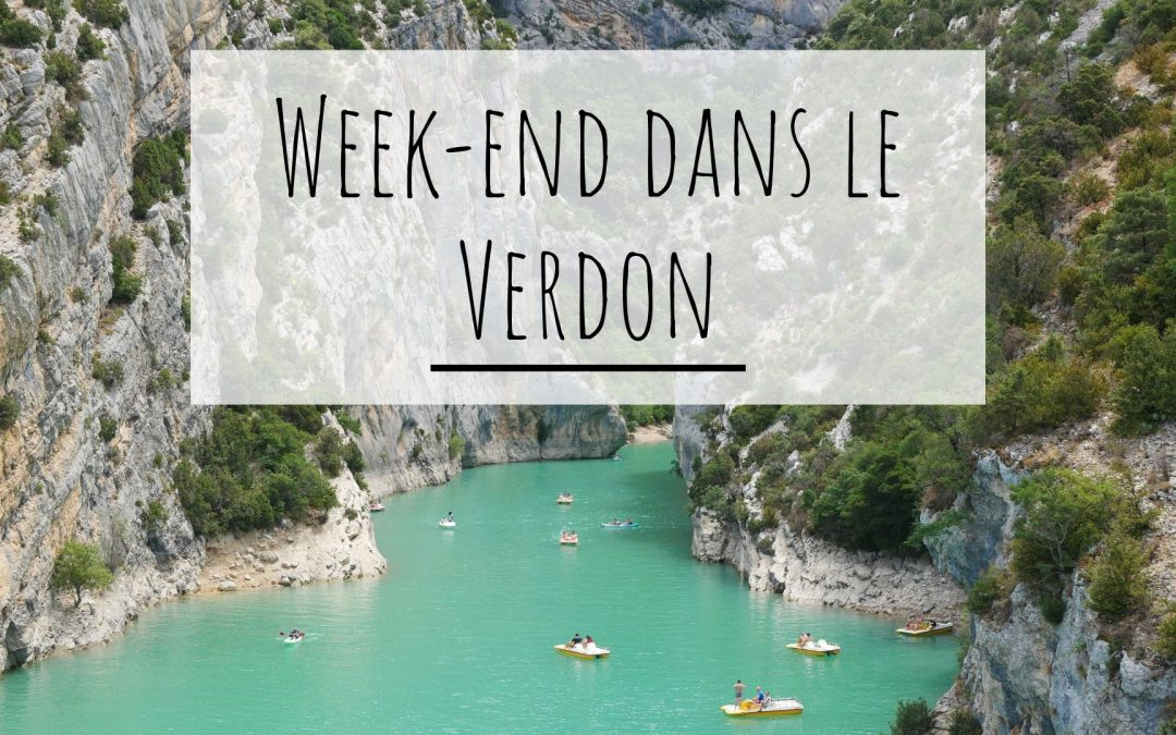 Week-end dans le Verdon