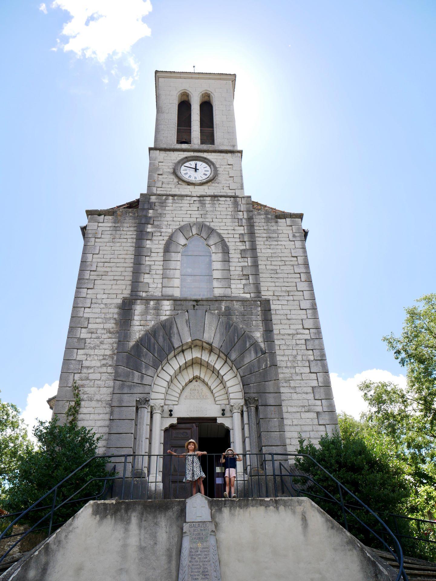 balade en Ardèche : Balazuc, église Notre-Dame
