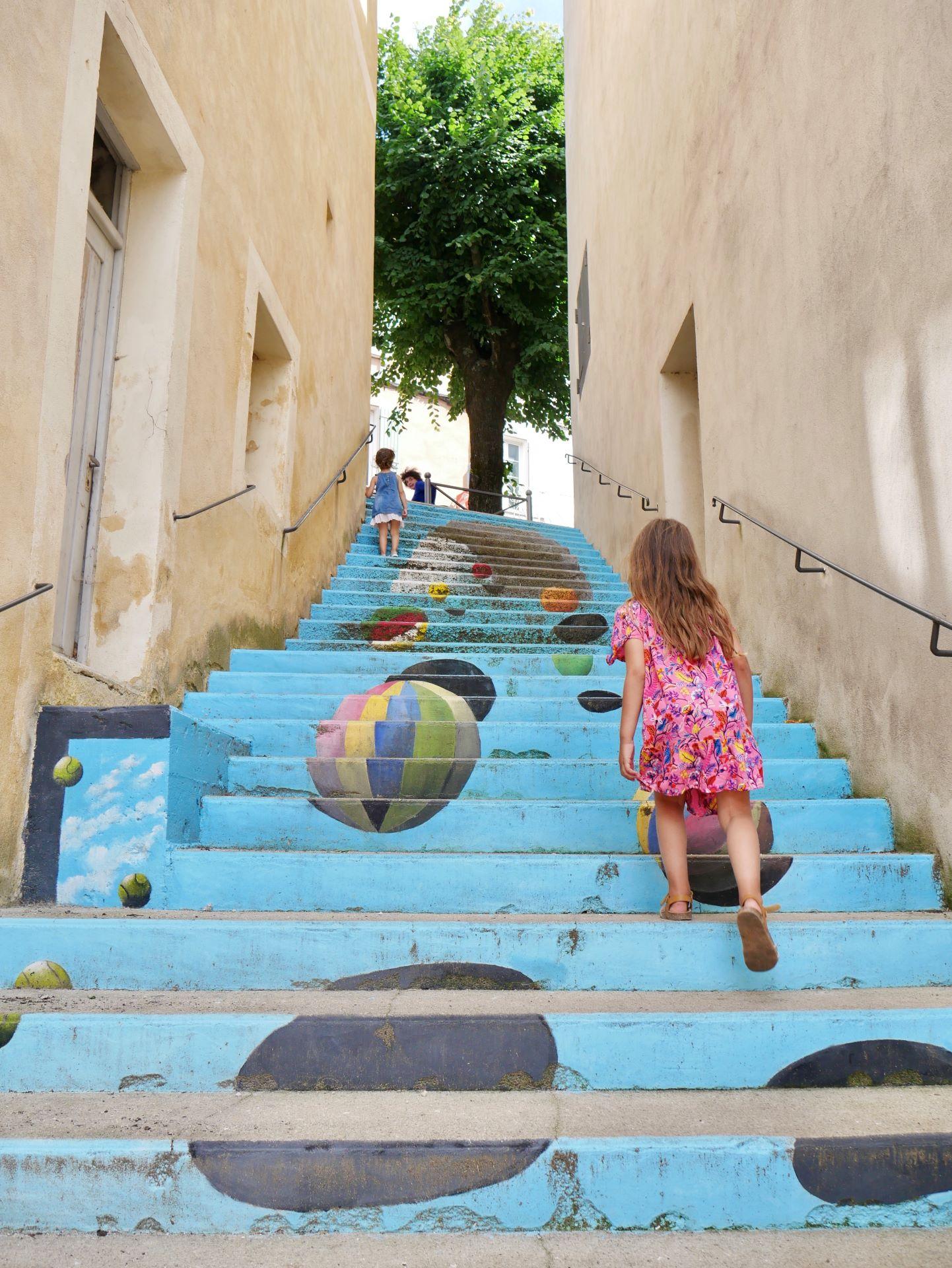 Un escalier de Dieulefit