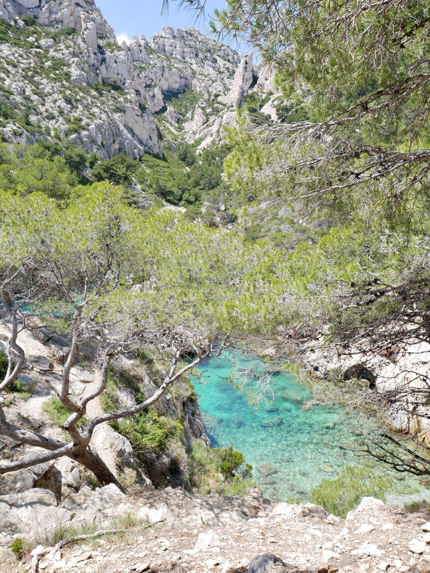 Calanque de Sugiton et son eau turquoise