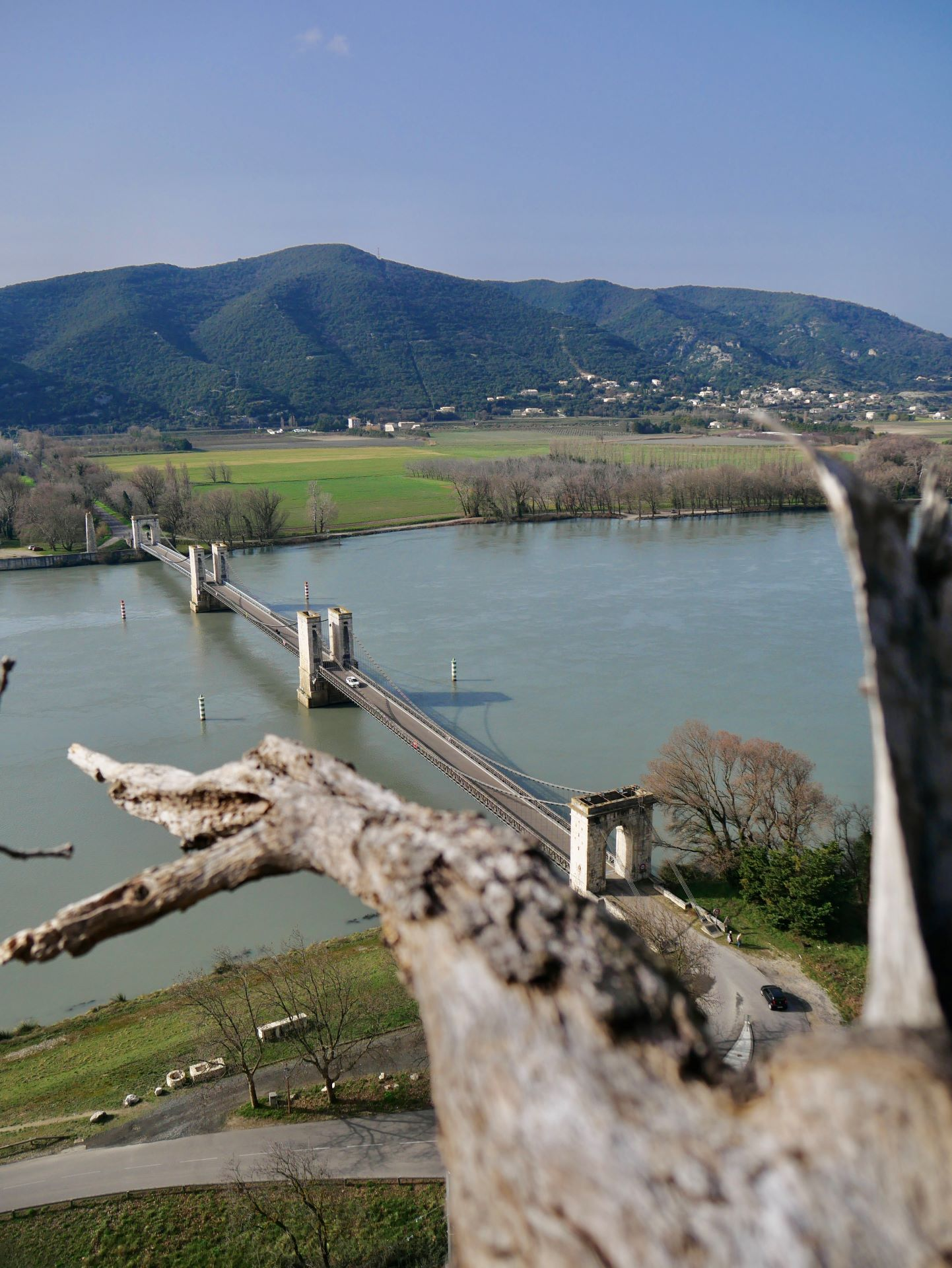 Pont du Robinet depuis le défilé de Donzère