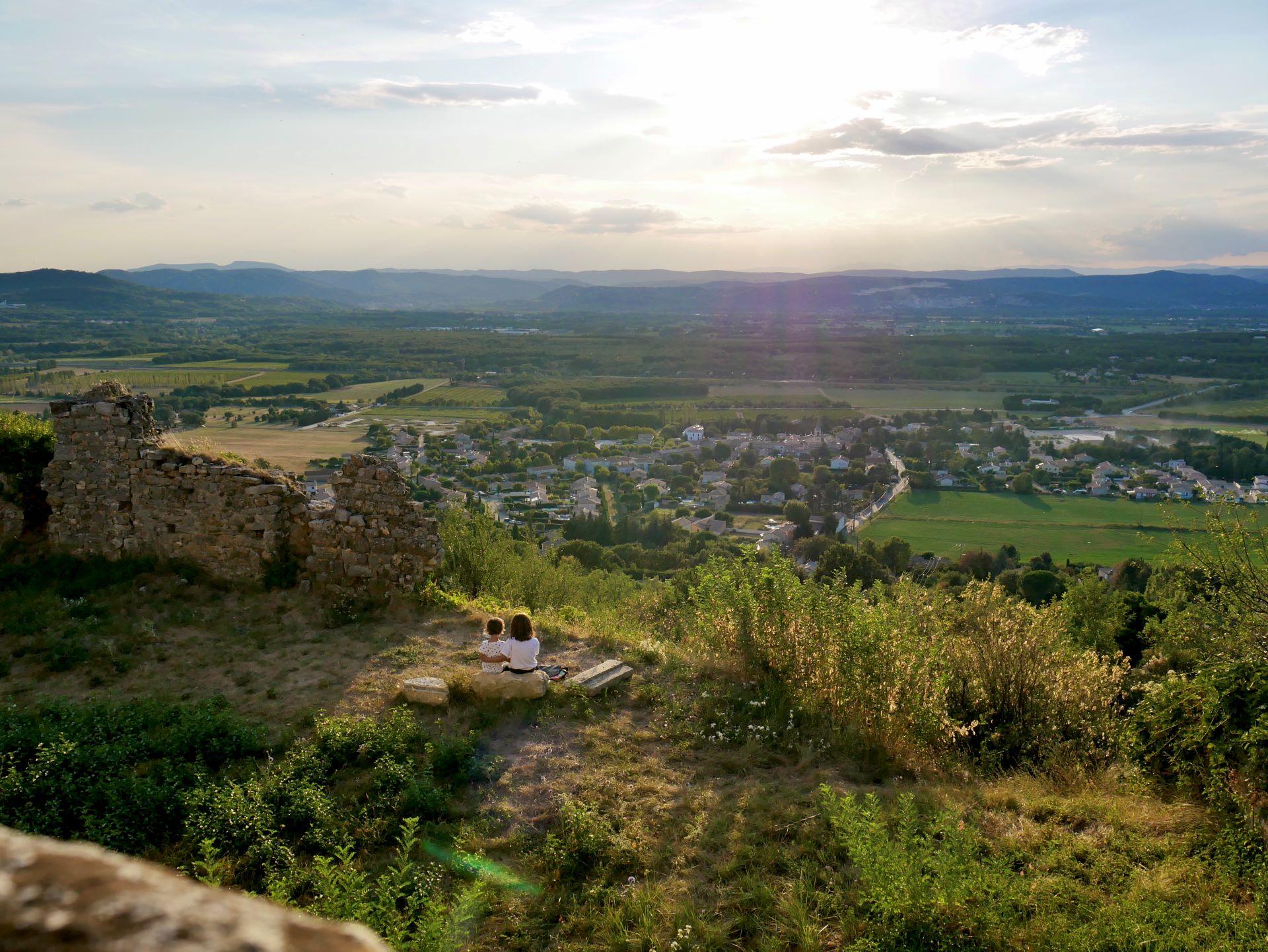 Randonnée autour de Montélimar : vieux village d'Allan