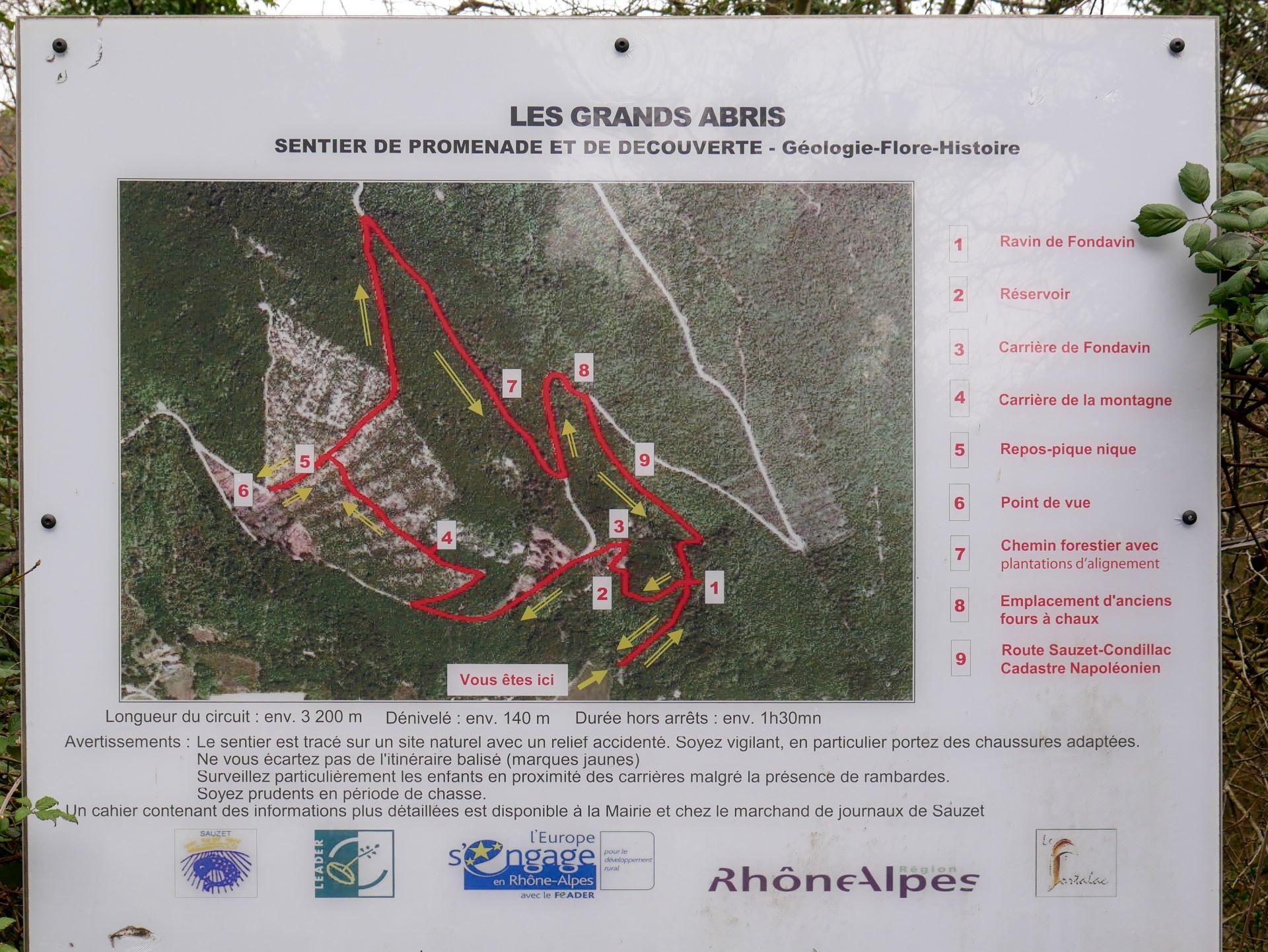 Randonnée autour de Montélimar : sentier du patrimoine Sauzet 3,2km